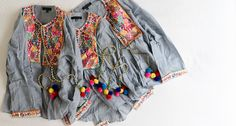 POM POM JACKET by Goodnight Macaroon | Shop Casual Chic Women's Everyday Clothing Summer Beach Holiday Outfit Travel