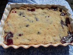 Nectarine and Blueberry Crumble