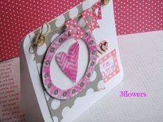 Tarjeta con caligrafía 3flowersscrapbooking: Cuando haces algo con el corazón