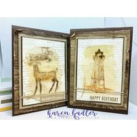 Vintage Card Dashing Deer and Sailing Home Bday Cards, Stampin Up Catalog, Santa And Reindeer, Masculine Cards, Vintage Cards, Old World, Bees, Stamping, Christmas Cards