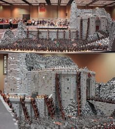 Helms deep battle made out of 150,000 Legos.