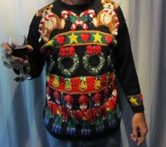 Best Of: Ugly Christmas Sweaters - Gallery Bad Christmas Sweaters, Tacky Christmas Sweater, Holiday Sweaters, Ugly Sweater Contest, Ugly Sweater Party, Def Not, Being Ugly, My Style, How To Wear