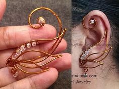 Tutorial Angel wing ear cuff - How to make wire jewelery - YouTube