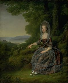Jens Juel   Danish,  Baroness Matilda Guiguer de Prangins in her Park at the Lake of Geneva, 1779 TECHNIQUE Oil on canvas REFERENCE KMS4810