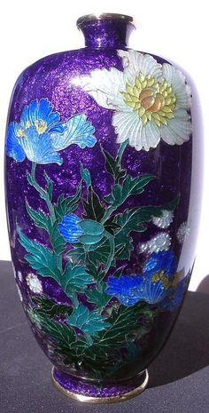Japanese Cloisonne Vase, Signed. HC