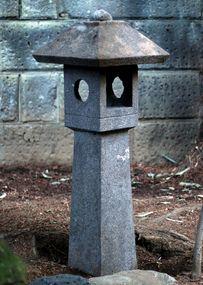 Stone Lantern Ishi-Doro Tea Garden Zen Wabi-Sabi Showa