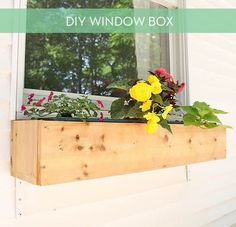 How To Make A Cedar Window Box For Plants