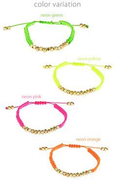 shashi シャシ ネオン ナゲット ミサンガ ブレスレット 《 Neon Nugget Bracelet 》