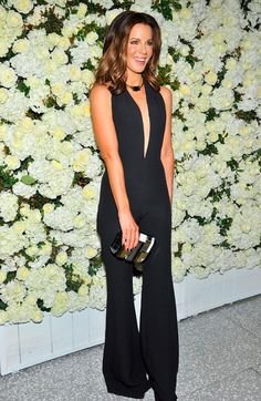 Kate Beckinsale wore a House of Lavande Vintage necklace to a dinner honoring Victoria Beckham, hosted by Barneys New York in Beverly Hills
