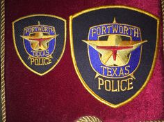 Fort Worth Police Department uniform patch and hat / cap patch