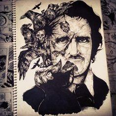 Edgar Allan Poe by Diogo Franja