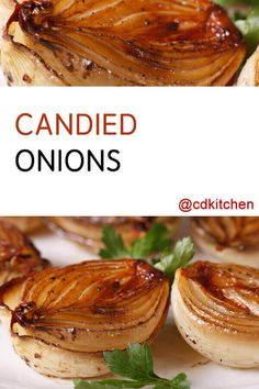 This is a variation on caramelized onions that uses boiled onions that are glazed with a sugar and steak sauce mixture. The onions come out rich and tender. Okra Recipes, Onion Recipes, Vegetable Recipes, Pasta Recipes, Baked Onions, Caramelized Onions, Boiled Onions Recipe, Onion Blossom Recipe, Grilling Recipes