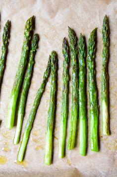 Simply Roasted Asparagus in Olive Oil, Lemon via @Shulie Packer Packer Madnick