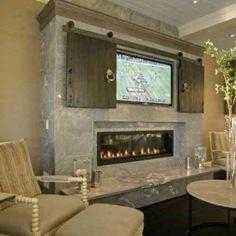meuble télé avec portes coulissantes