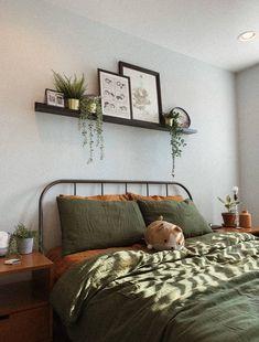 Room Ideas Bedroom, Home Bedroom, Bedroom Decor, Bedrooms, Cozy Place, Aesthetic Bedroom, Apartment Design, Home Decor Styles, Decoration