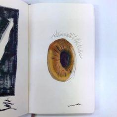 wataru_draw#illustrations #illustagram #drawing #copic #moleskine #eye #space #イラスト #ドローイング #コピック #モレスキン #目 #宇宙2018/03/14 00:51:20
