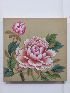 Korean Painting, Chinese Painting, Buddhist Symbols, Chinese Flowers, Blue Peonies, Water Drawing, Tibetan Art, Chinoiserie Wallpaper, Peony Flower