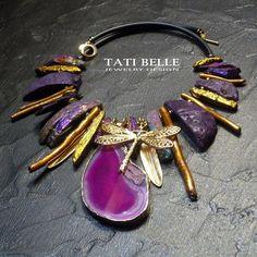 """Колье, бусы ручной работы. Колье """"В джунглях Пандоры"""". Tati Belle (magic jewelry). Ярмарка Мастеров. Авторский дизайн"""