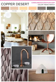 #carolinececiltextiles trend inspiration. Copper | Textiles | Fashion | Mood Board | Pattern | Textile Trend | Interior Design | Interiors | Interior Color Trends | SS16 | FW16 | SS17 | AW17 | FW17 | spring summer 2016 | autumn winter 2016 | textile design | color trend | megatrends |