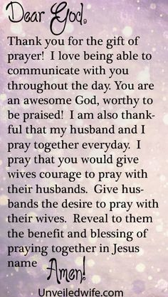 Prayer Of The Day – Praying With Your Husband by @Unveiled Wife
