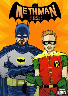 Batman and Robin - 'Breaking Bad' Stars Brilliantly Reimagined as 6 Dynamic Duos - Mashable.com.
