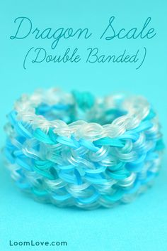 How to Make a Rainbow Loom Double Banded Dragon Scale #rainbowloom #monstertail