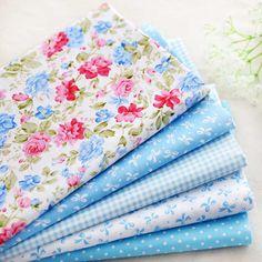Pcs 5 40*50cm del bebé azul rosa de algodón patchwork acolchado de tela textiles para el hogar tela de coser para bricolaje