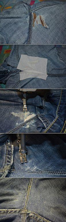 Штопаем джинсы. Мастер-класс.