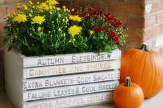 Autumn Word Art Crate