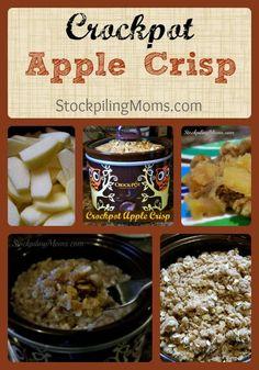 Crockpot Apple Crisp is the PERFECT dessert crockpot recipe! #dessert #crockpot