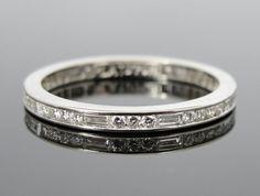 Stunning Platinum Baguette and Fine Round Diamond by MSJewelers, $2585.00