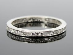RESERVED Down Payment Stunning Platinum Baguette by MSJewelers
