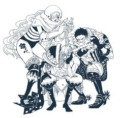 Big Mom Crew Pirates Charlotte Katakuri Demon Lady Charlotte Amande Cracker One Piece