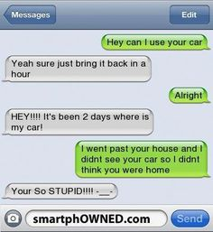 Funny texts 144 Find very good Jokes, Memes and Quotes on our site. Keep calm and have fun. Funny Pictures, Videos, Jokes & new flash games every day. Stupid Texts, Funny Drunk Texts, Funny Text Messages Fails, Text Message Fails, Funny Texts Jokes, Text Jokes, Haha Funny, Stupid Funny Memes, Funny Quotes