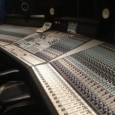 Don't fear the gear! Kickin' it old school with the analog recording console at #FullSail.
