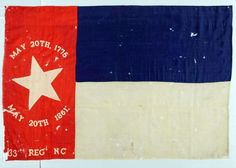 The flag of the 33rd Regiment North Carolina Troops, which was captured by the Union at the Battle of New Bern on March 14, 1862, and returned to the state in 1917.