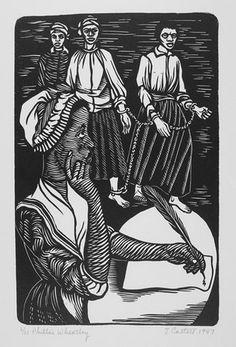 Elizabeth Catlett, 'Phyllis Wheatley (from Black Woman Series),' 1947, linocut