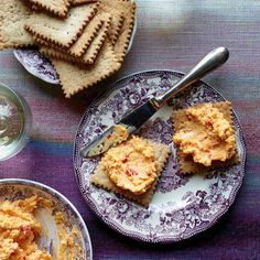 Get Food & Wine's homemade salt-and-pepper crackers with pimento cheese from TV chef Carla Hall.