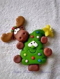 Resultado de imagen de adornos navideños en porcelana fria pinterest