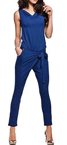 #CRAVOG #Jumpsuit #Damen #Elegant #Overall #Einteiler #Hosenanzug #Hose #lang CRAVOG Jumpsuit Damen Elegant Overall Einteiler Hosenanzug Hose lang, , elastischer Jersey, feine Crêpe-Qualität mit Stretchkomfort, ungefüttert, V-Ausschnitt, prädestiniert für eine opulente Statementkette, Gummibund und Satin-Bindegürtel in der Taille, zwei Eingrifftaschen vorn, bequeme Passform mit lockerer Taillierung und schmaler werdendem Beinverlauf