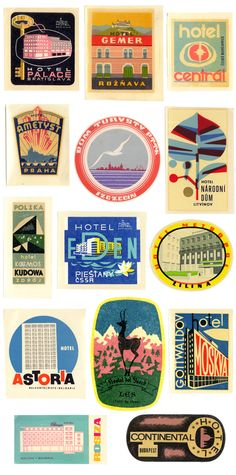 vintage travel sticker | friday finds - vintage travel stickers