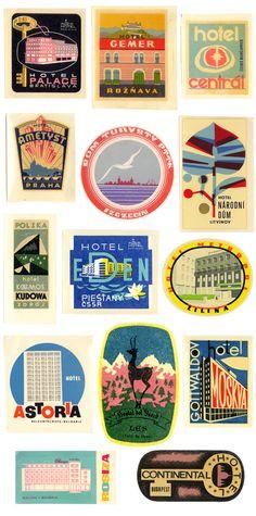 vintage travel sticker | friday finds - vintage travel stickers