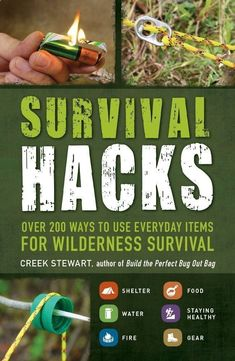 "Turn the items you use everyday into the provisions. Are you prepared if you needed to survive in the wilderness or off the grid. Survival expert Creek Stewart shares his plethora of information in practical, easy to use tricks to help you change your everyday items into essential and valuable gear. These ""Survival Hacks"" will be given to you in easy steps in transforming items like soda tabs and plant leaves into survival tools. This book is perfect for doomsday preppers, hiking"