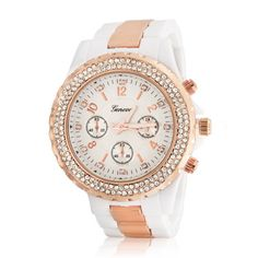 Fashion Boyfriend Wrist Watch For Women Round White Dial Leather Band Rose Gold Plated Bezel Steel Back Automatic Simple Watches, Boyfriend Style, Jewelry Case, Selling Jewelry, Geneva, Rose Gold Plates, Silver Bracelets, Sterling Silver Necklaces, Chronograph