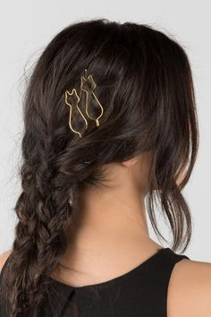Cat Outline Bobby $8.00 These gold cat outlined bobby pins are the purr-fect addition to any hairstyle!
