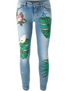 Dolce & Gabbana patch jeans