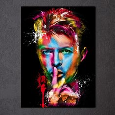 Art - Pop Painting of David Bowie - by French artist Patrice Murciano David Bowie, Angela Bowie, Ziggy Stardust, Murciano Art, Patrice Murciano, Pop Art, Poster A3, Art Posters, Canvas Poster