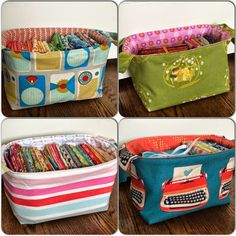 Fabric Basket Sewing Tutorial (Sew Pretty Sew Free) More
