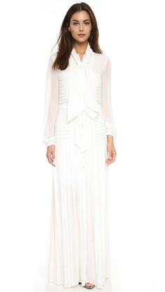Temperley London Long Sahara Pleated Dress
