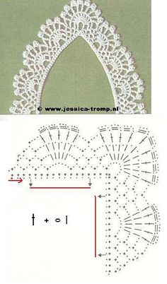 Crochet Patterns Lace crochet - spouts / barred with corners - corners - Raissa Tavares - Picasa Web Alb . Crochet Collar Pattern, Col Crochet, Crochet Lace Collar, Crochet Edging Patterns, Crochet Lace Edging, Crochet Diagram, Crochet Chart, Thread Crochet, Crochet Trim